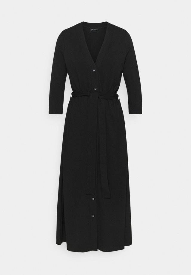 SLFWINNIE 3/4 MIDI DRESS - Jersey dress - black