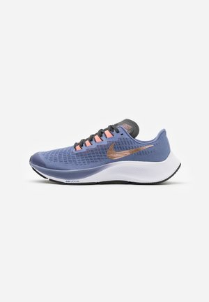 AIR ZOOM PEGASUS 37 UNISEX - Neutral running shoes - world indigo/metallic red bronze/dark smoke grey