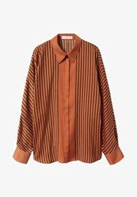 Mango - OVERSIZE À RAYURES - Button-down blouse - marron - 6