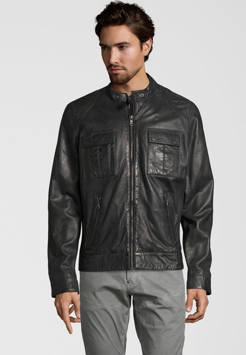 Capitano - NEBRASKA  - Leather jacket - anthracite
