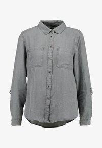 ONLY - ONLFJILL FITTED - Button-down blouse - dark grey denim - 3
