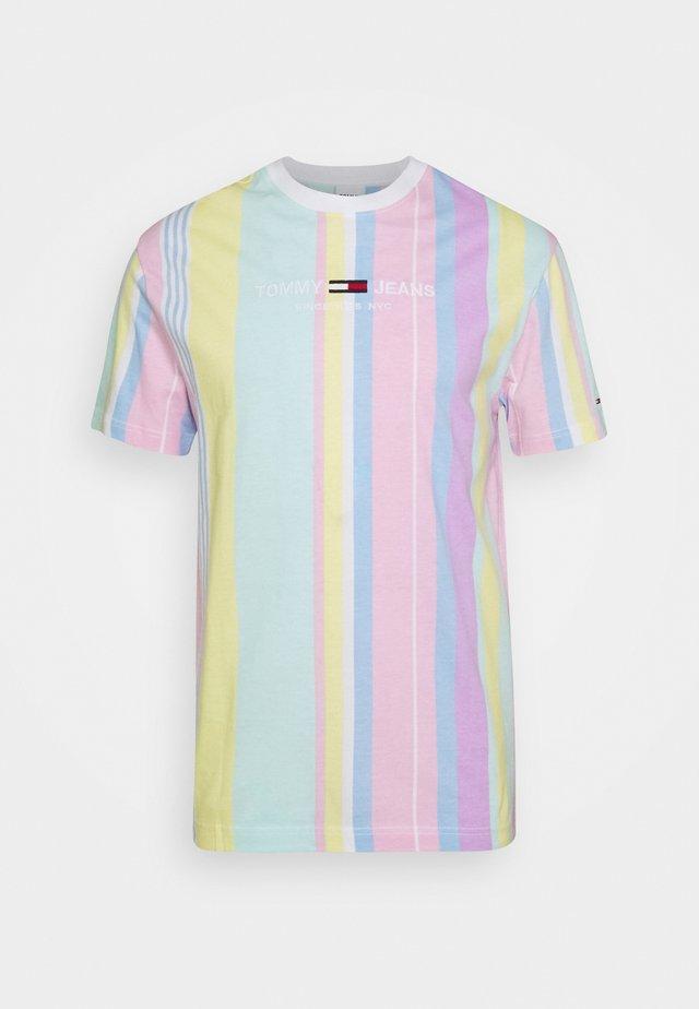STRIPE TEE - T-shirt imprimé - romantic pink