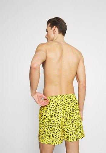 JJIBALI JJSWIM 2 PACK - Swimming shorts - vibrant yellow/black solid