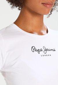 Pepe Jeans - NEW VIRGINIA - Triko spotiskem - white - 3