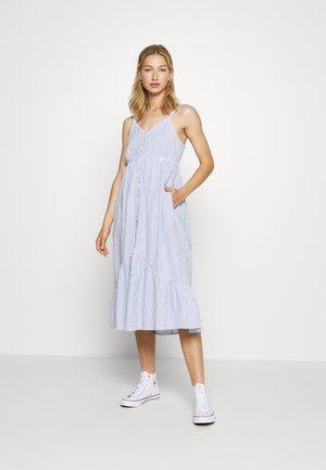 DAISY MIDI - Vestido informal - blue stripe