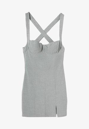 Koktejlové šaty/ šaty na párty - light grey