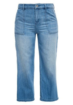 CULOTTE AUS LEINENMIX - Flared Jeans - blue