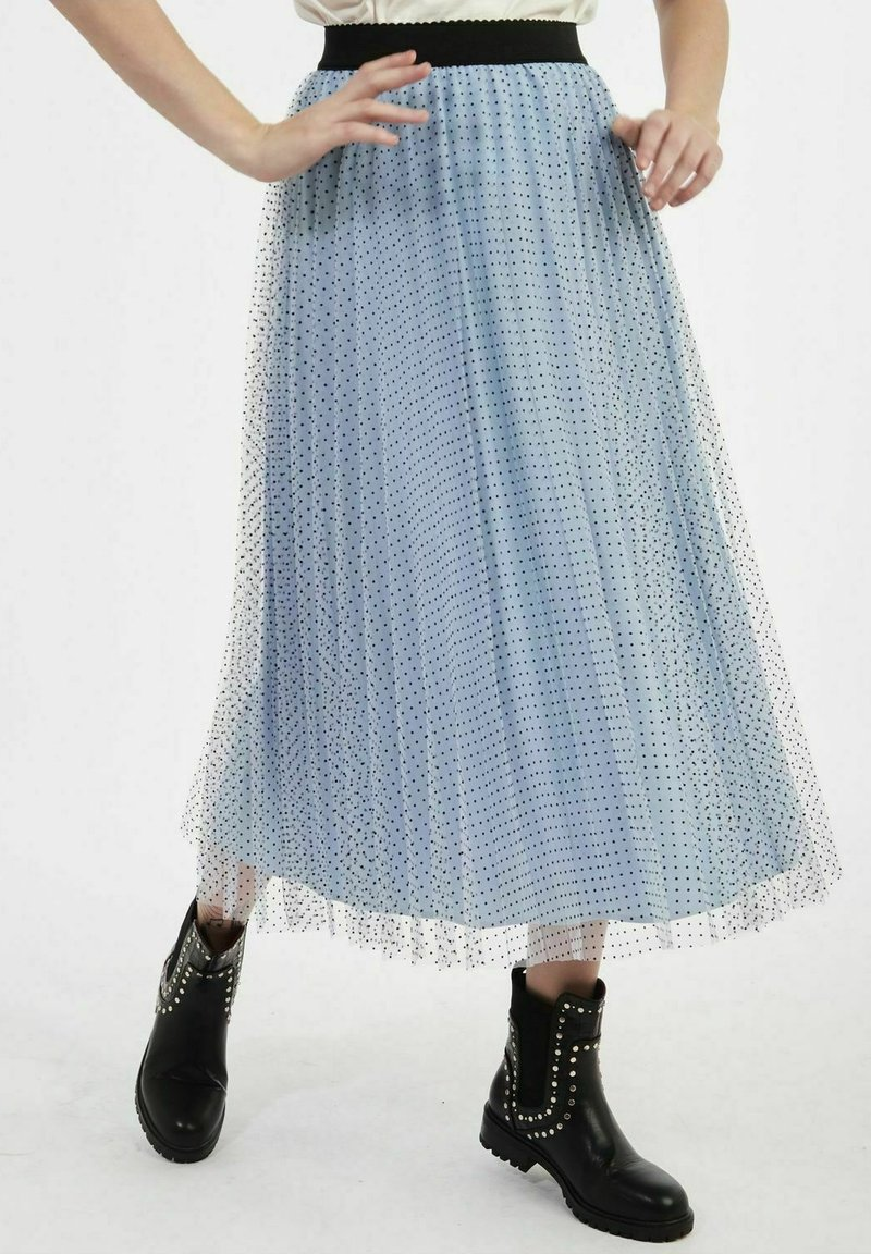 NAF NAF - A-line skirt - blue