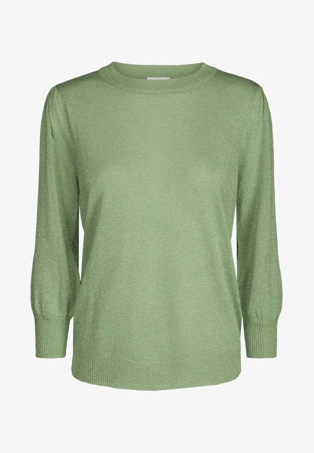 MERSIN - Stickad tröja - pistachio lurex
