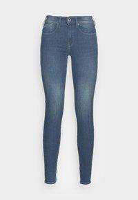 worn in gravel blue