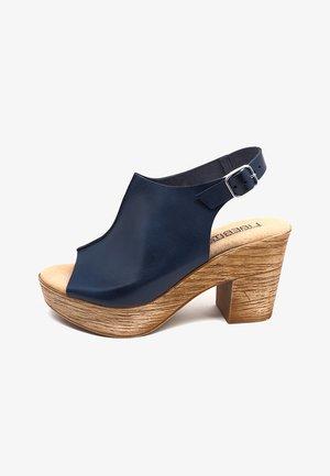 OVIEDO  - Sandalias con plataforma - azul