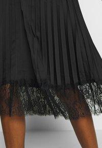 Vila - VIMOON MIDI SKIRT FULL - A-line skirt - black - 3