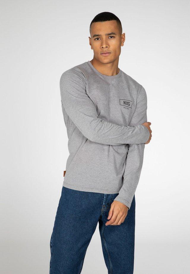 Long sleeved top - dark grey melee