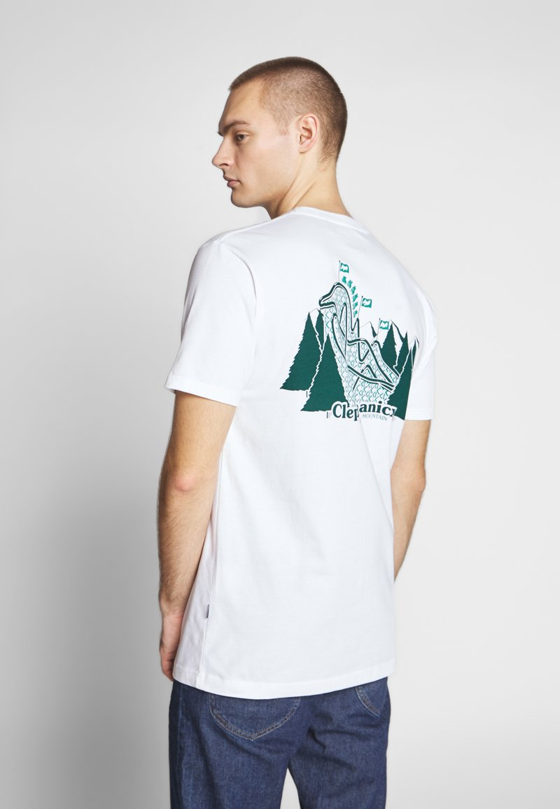 Cleptomanicx - GULLCOASTER - T-shirt con stampa - white