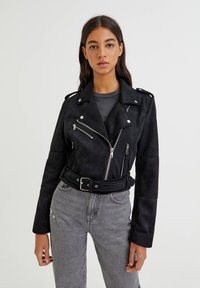 PULL&BEAR - Faux leather jacket - black - 0