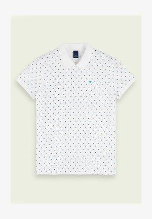 SHORT SLEEVED  - Polo shirt - white/blue