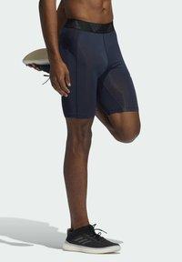 adidas Performance - TECHFIT SHORT TIGHTS - Leggings - blue - 2