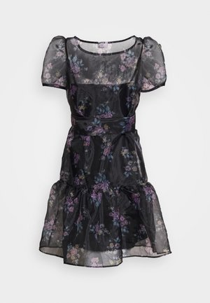 VIORGA SHORT DRESS - Juhlamekko - black