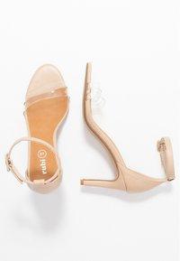 Rubi Shoes by Cotton On - SHARI DOUBLE STRAP STILLETO - Sandály na vysokém podpatku - nude/clear - 3