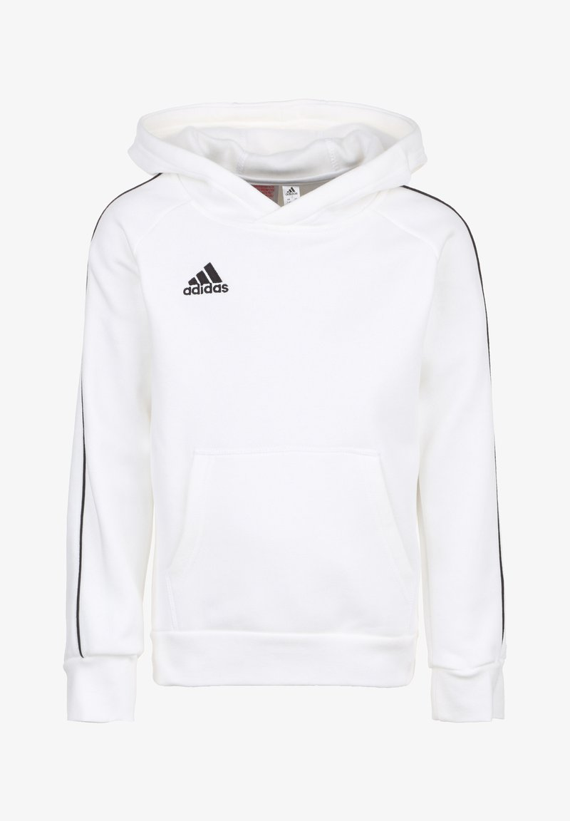 adidas Performance - CORE 18 KAPUZENPULLOVER KINDER - Sweat à capuche - white