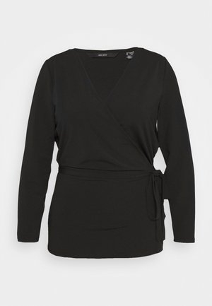VMPARIA WRAP - Strikjakke /Cardigans - black