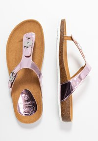 Scholl - BIMINOIS - T-bar sandals - rose - 3