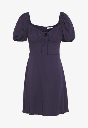 BUST DETAIL MINI DRESS - Denní šaty - purple