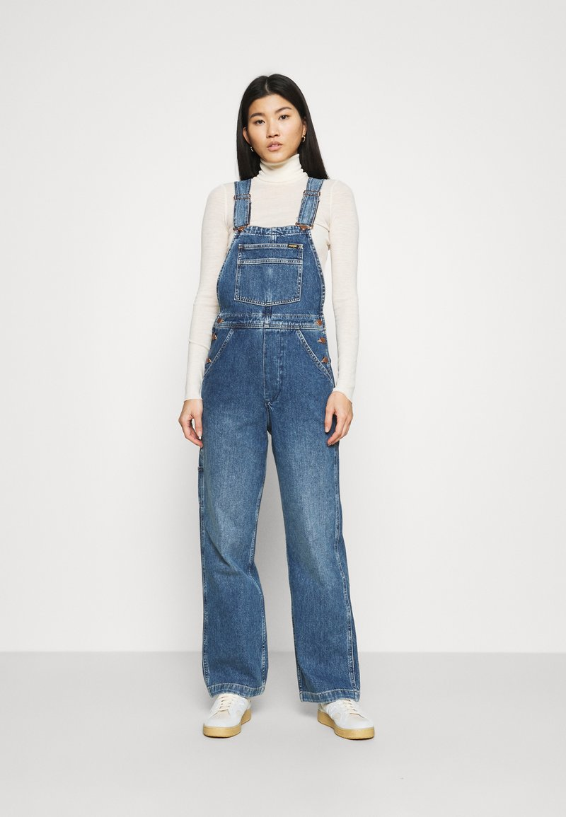 Wrangler - STRAIGHT BIB - Snekkerbukse - all star blue
