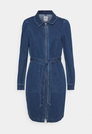 ONLNEW CHIGO DRESS - Denim dress - medium blue denim