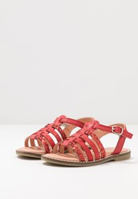 Friboo - LEATHER - Sandály - red - 3