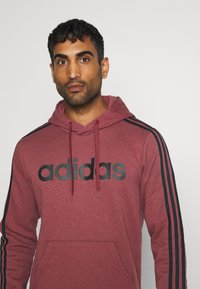 adidas Performance - 3 STRIPES ESSENTIALS SPORTS HOODED - Sweat à capuche - red - 3