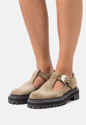 COMBAT MARY JANE - Slip-ons - taupe
