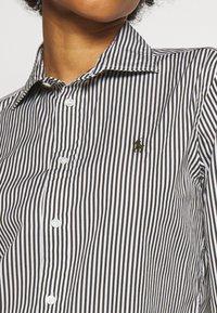 Polo Ralph Lauren - GEORGIA LONG SLEEVE - Button-down blouse - dark loden/white - 5