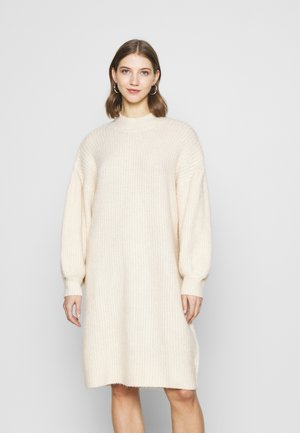 TINA DRESS - Strikket kjole - beige