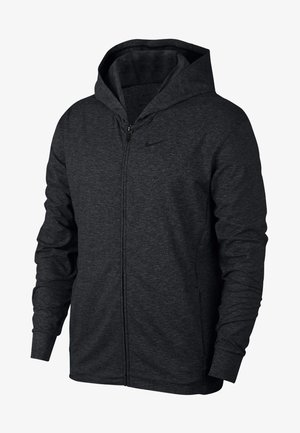 NIKE DRI-FIT - Zip-up hoodie - black