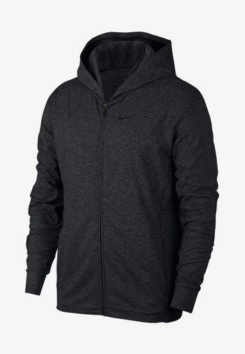 NIKE DRI-FIT - Zip-up sweatshirt - black