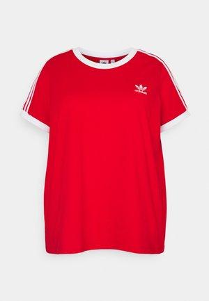 3 STRIPES TEE - Print T-shirt - red