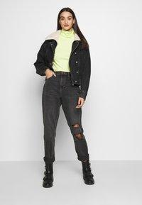 Topshop - 80S BORG NEAT JACKET - Denim jacket - wbk - 1