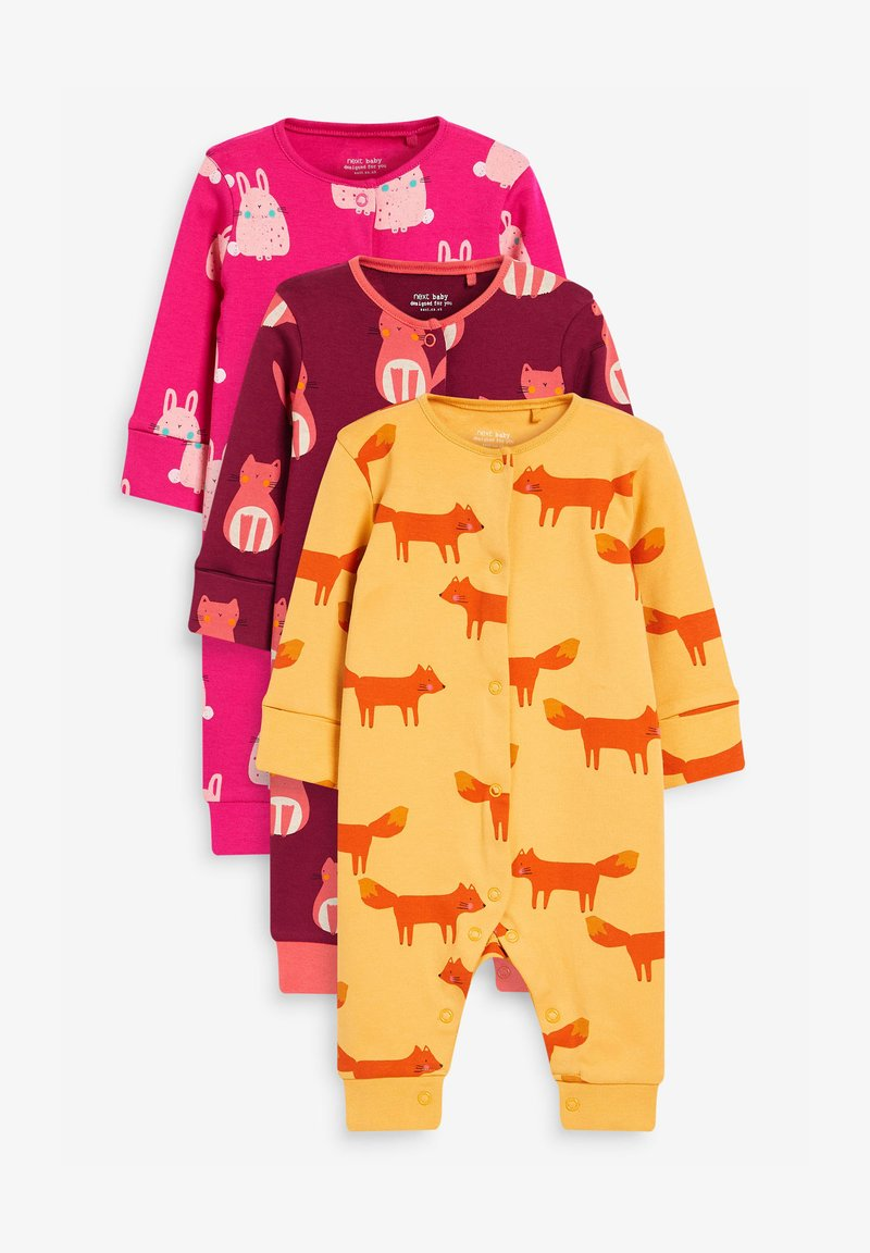 Next - 3 PACK  - Sleep suit - pink