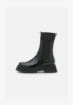 KATE LUG SOLE COMBAT BOOT - Plateaulaarzen - black