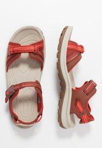 Keen - TERRADORA II  - Walking sandals - dark red/coral - 1