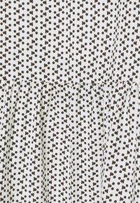 Re.draft - PRINTED VOLANT DRESS DOTS - Sukienka letnia - white - 2