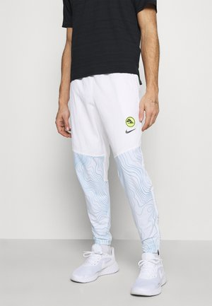 ESSENTIAL THERMA PANT EKIDEN - Tracksuit bottoms - white/black