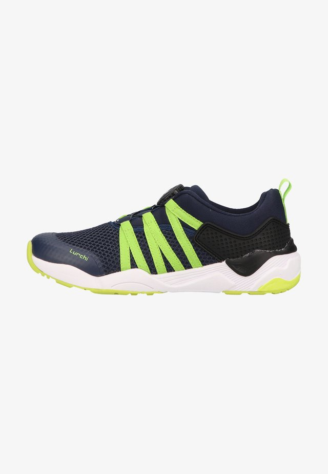 Sneakers laag - navy neongreen