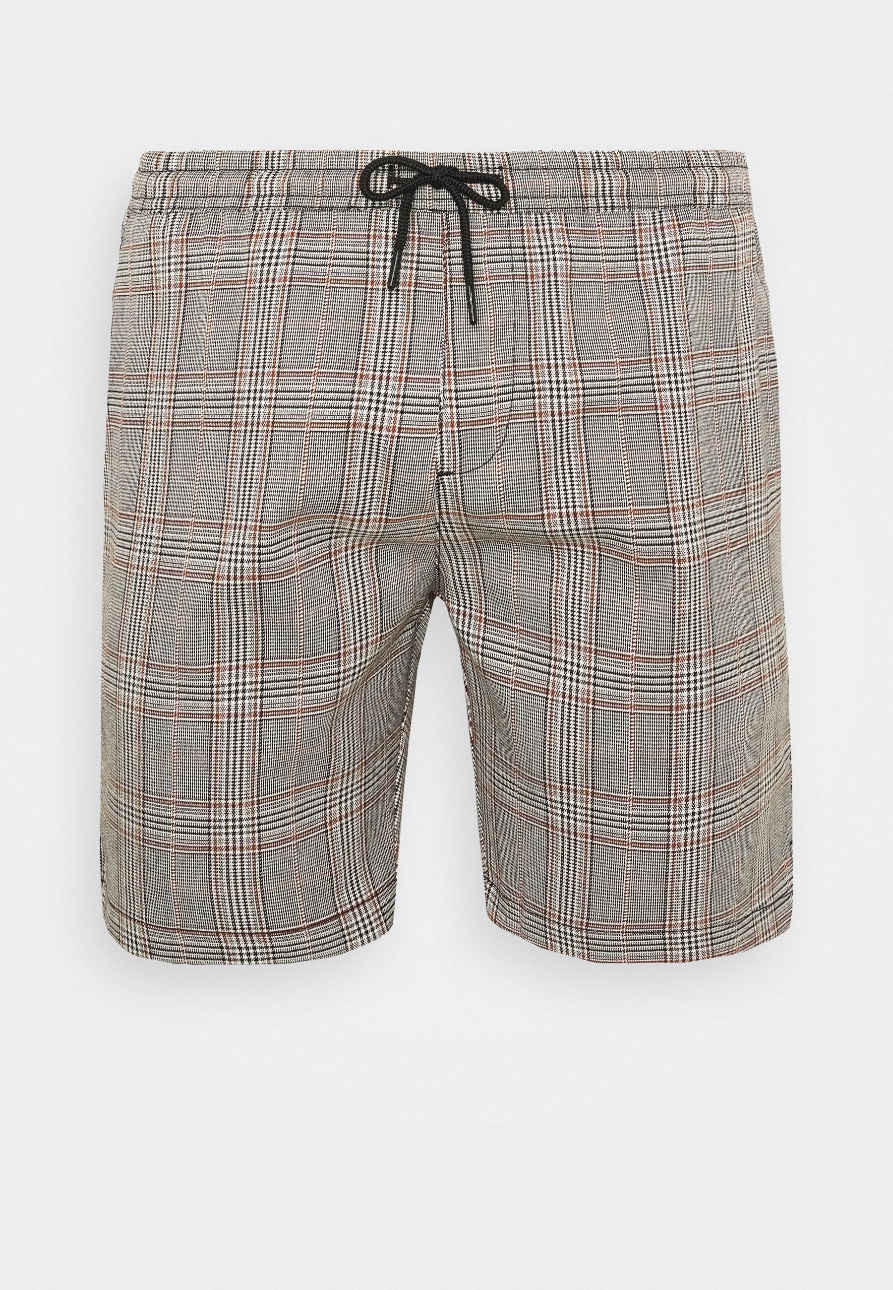 Men COLTON - Shorts - black/white/light brown