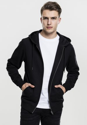 BASIC - Zip-up hoodie - black