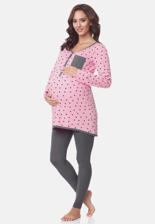 Pyjama - rose-Dots-Grey