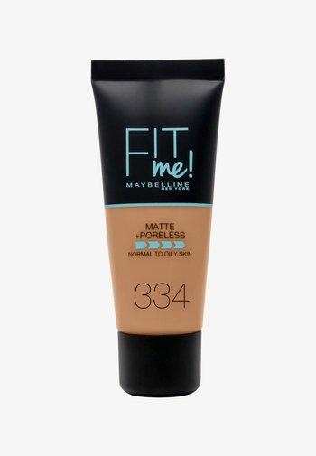 FIT ME MATTE & PORELESS MAKE-UP - Foundation - 334 warm tan