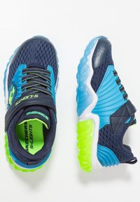 Skechers - RAPID FLASH - Tenisky - navy/blue/lime - 1