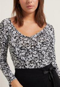 Tezenis - Long sleeved top - st black&white flowers - 3